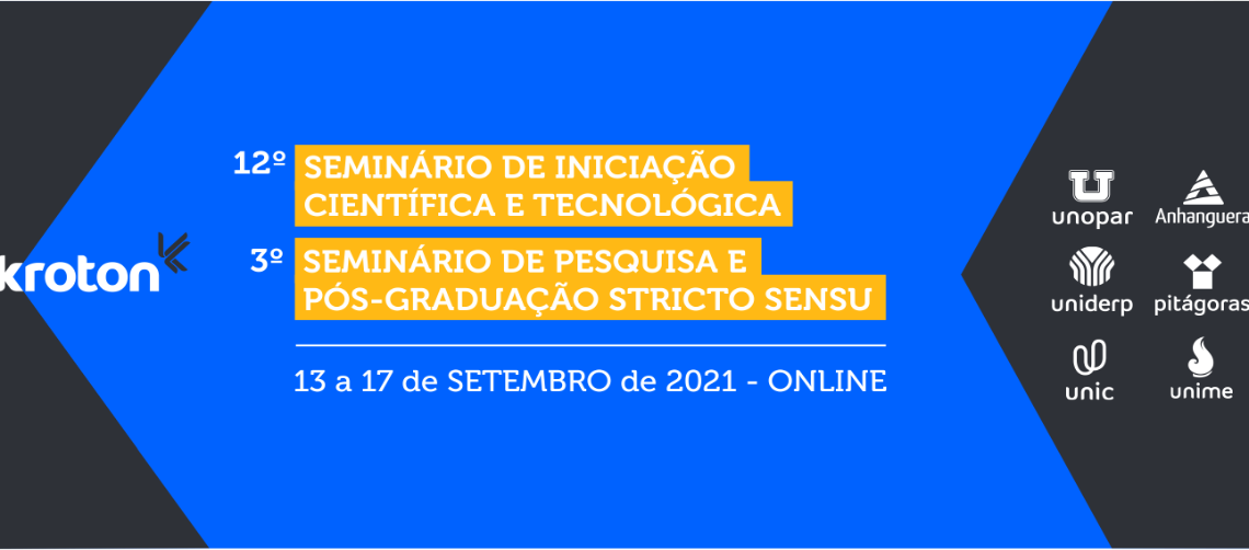 12º SEMINÁRIO DE INICIAÇÃO CIENTÍFICA E TECNOLÓGICA | 3º SEMINÁRIO DE PESQUISA E PÓS-GRADUAÇÃO STRICTO SENSU